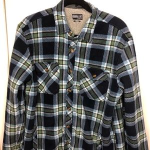 Men's ONEILL Blue Green Plaid Jacket Medium